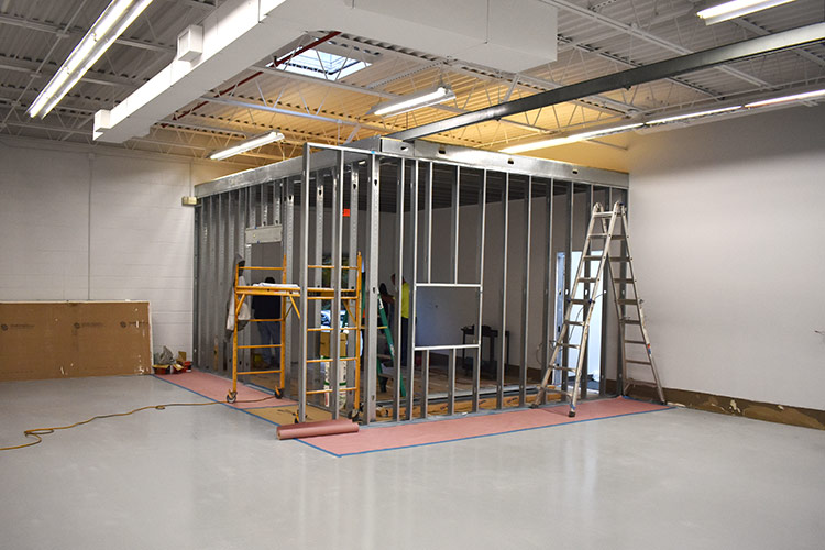 Erection of new CAD and tool design room, with access to office