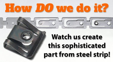 Metalclips, spring clips from steel strip.